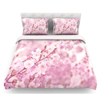 Endless Cherry by Monika Strigel Floral Featherweight Duvet Cover Size: Twin