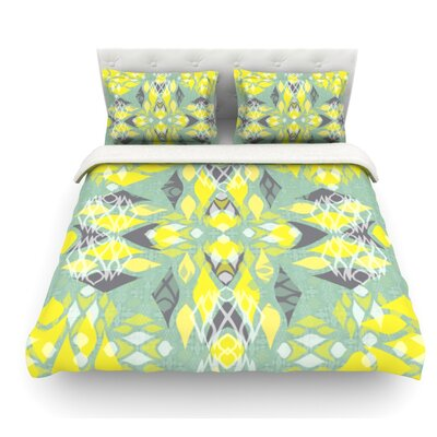 Joyful by Miranda Mol Featherweight Duvet Cover Size: King, Fabric: Cotton