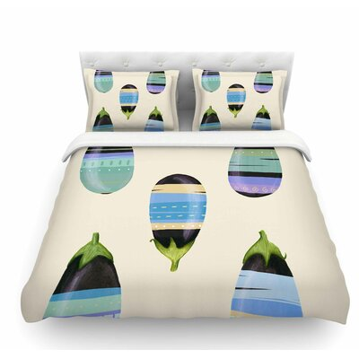 Happy Aubergines by Judith Loske Featherweight Duvet Cover Size: Twin