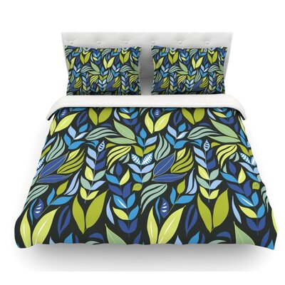 Underwater Bouquet by Michelle Drew Featherweight Duvet Cover Size: Queen, Color: Navy/Blue