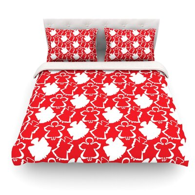 Dancing Angels by Miranda Mol Featherweight Duvet Cover Size: Queen, Fabric: Lightweight Polyester