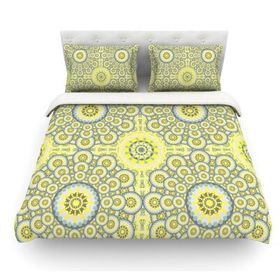 Multifaceted Flowers by Miranda Mol Featherweight Duvet Cover Size: King, Fabric: Lightweight Polyester