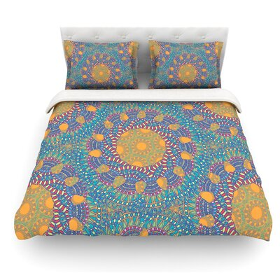 Prismatic by Miranda Mol Abstract Featherweight Duvet Cover Size: Twin, Color: Orange