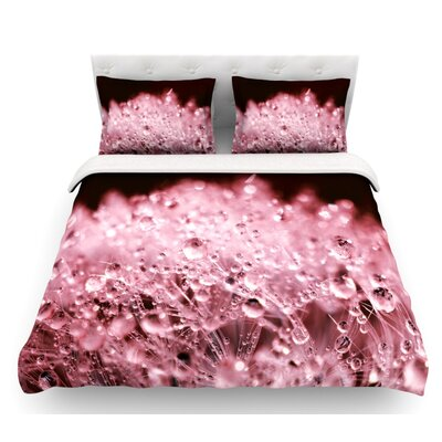 Dandelion Diamonds by Monika Strigel Featherweight Duvet Cover Color: Marsala, Size: King