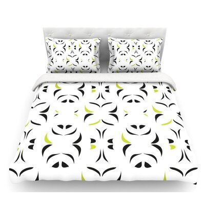 Retro Snow Storm by Miranda Mol Featherweight Duvet Cover Size: King