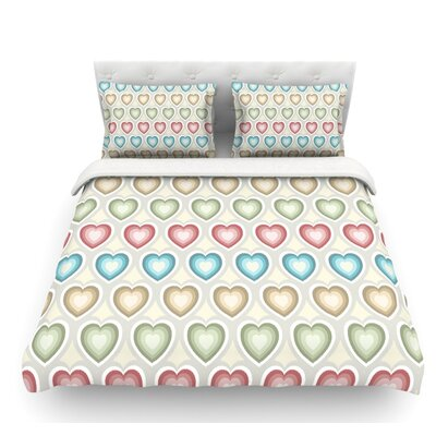 My Hearts by Julia Grifol Featherweight Duvet Cover Size: Queen