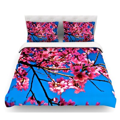 Flowers by Maynard Logan Featherweight Duvet Cover Size: Queen, Fabric: Lightweight Polyester