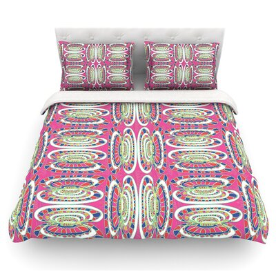 Bohemian Wild by Miranda Mol Abstract Featherweight Duvet Cover Size: King