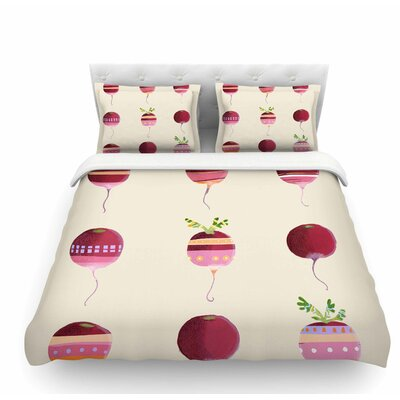 Happy Radishes by Judith Loske Ped Featherweight Duvet Cover Size: King