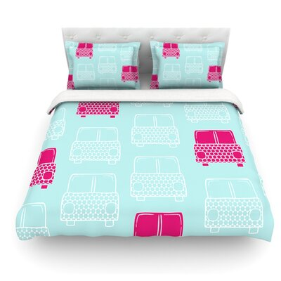 Beep Beep by Michelle Drew Featherweight Duvet Cover Size: Twin