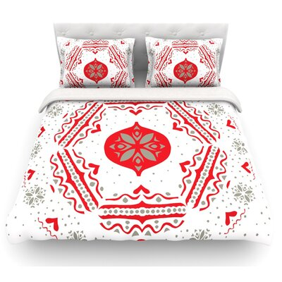 Snow Joy by Miranda Mol Featherweight Duvet Cover Size: Queen, Color: White, Fabric: Lightweight Polyester
