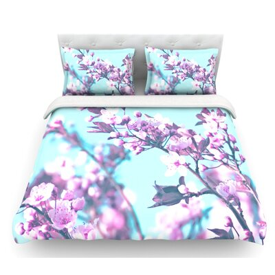 Cherry Phantasy by Monika Strigel Featherweight Duvet Cover Size: King