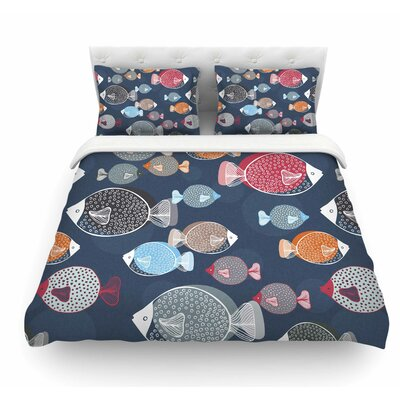 Swim School by Melissa Armstrong Featherweight Duvet Cover Size: Twin