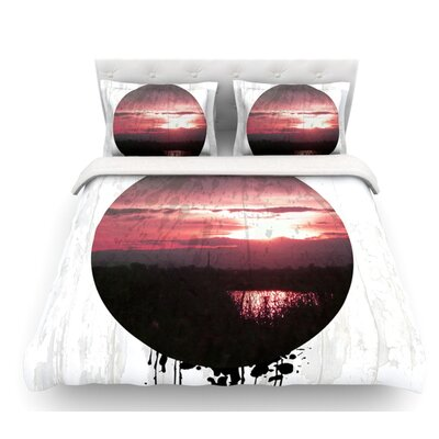 Valley Sunset Splatter Duvet Cover Size: Queen, Fabric: Lightweight Polyester