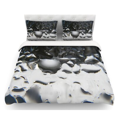 Window by Maynard Logan Featherweight Duvet Cover Size: Queen, Color: Black/White, Fabric: Lightweight Polyester