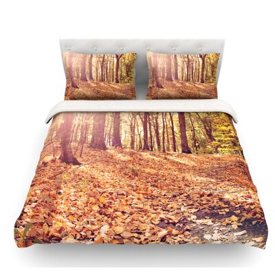 Autumn Hike by Jillian Audrey Featherweight Duvet Cover Size: Twin