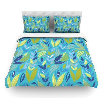 Underwater Bouquet by Michelle Drew Featherweight Duvet Cover Size: Queen, Color: Sky/Blue