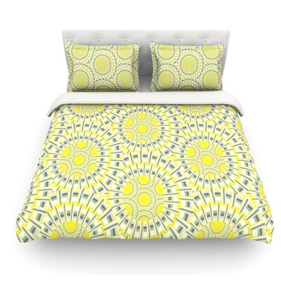 Sprouting Cells by Miranda Mol Featherweight Duvet Cover Size: Queen, Fabric: Cotton
