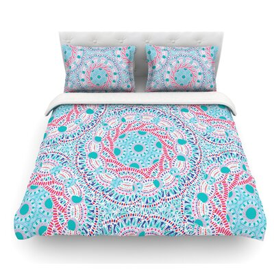 Prismatic by Miranda Mol Abstract Featherweight Duvet Cover Color: White, Size: Queen