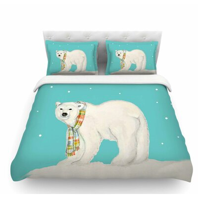 Chilly Snow Bear by Jennifer Rizzo Featherweight Duvet Cover Size: Queen