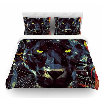 Le Noir Parduc by Mayka Ienova Animals Featherweight Duvet Cover Size: Queen