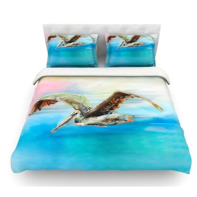 Coast by Josh Serafin Ocean Bird Featherweight Duvet Cover Size: King