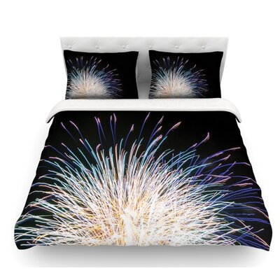 Firework by Jillian Audrey Pastel Featherweight Duvet Cover Size: Twin