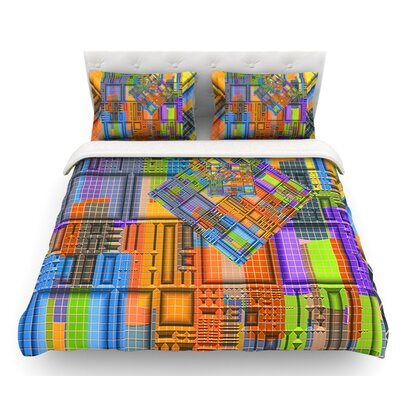 Tile Rep by Michael Sussna Abstract Featherweight Duvet Cover Size: Queen, Fabric: Lightweight Polyester