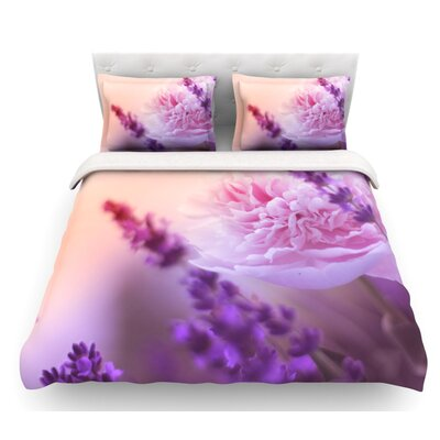 Peony by Monika Strigel Featherweight Duvet Cover Size: Twin