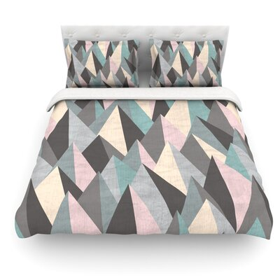 Mountain Peaks by Michelle Drew Featherweight Duvet Cover Color: Beige/Brown, Size: King