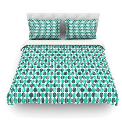 Distressed Circles by Michelle Drew Featherweight Duvet Cover Size: Queen