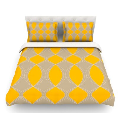 Geometries by Julia Grifol Featherweight Duvet Cover Size: Full/Queen, Fabric: Woven Polyester