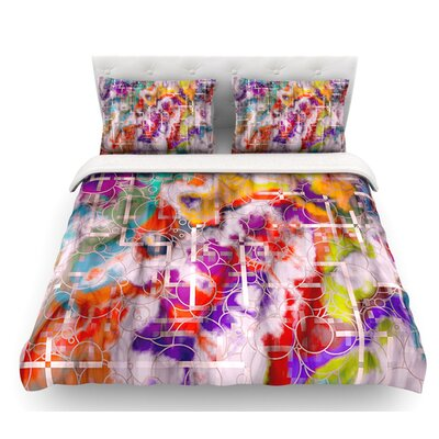 Quantum Foam by Michael Sussna Geometric Featherweight Duvet Cover Size: Twin, Fabric: Lightweight Polyester