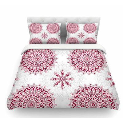 Geometric Mandalas by Julia Grifol Featherweight Duvet Cover Size: King