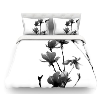 Mulan Magnolia by Monika Strigel Featherweight Duvet Cover Size: Twin