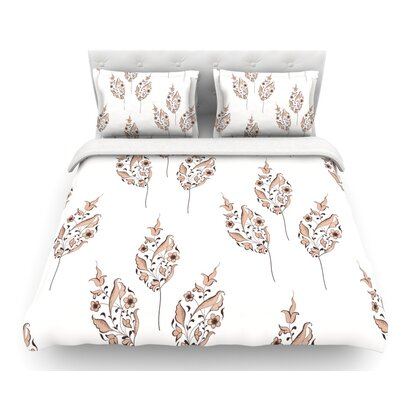 Louise Flower Featherweight Duvet Cover Size: Queen, Fabric: Woven Polyester