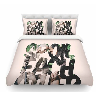 Spoil Each Other by Just L Featherweight Duvet Cover Size: King