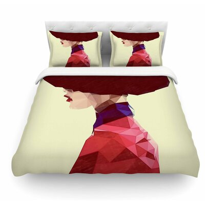 Chic Hat by Mayka Ienova Illustration Featherweight Duvet Cover Size: Queen