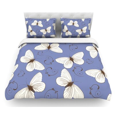 Butterflies by Louise Featherweight Duvet Cover Size: King/California King, Fabric: Woven Polyester