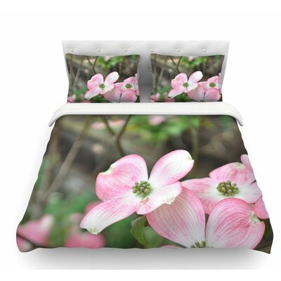 Spring Flowering Dogwood by Jennifer Rizzo Featherweight Duvet Cover Size: King