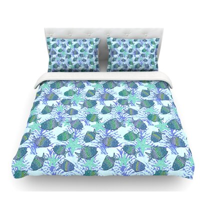 My Colorful Fishes by Julia Grifol Featherweight Duvet Cover Size: King