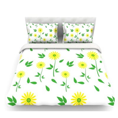 Daisy by Louise Featherweight Duvet Cover Size: Queen, Fabric: Lightweight Polyester