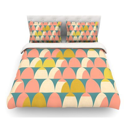 Scallops by Michelle Drew Featherweight Duvet Cover Size: Twin