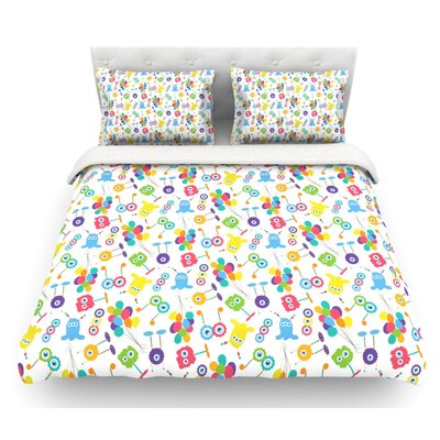 Fun Creatures by Laura Escalante Featherweight Duvet Cover Size: Queen, Fabric: Lightweight Polyester