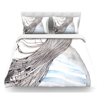 Breeze by Louise Featherweight Duvet Cover Size: Twin, Fabric: Cotton
