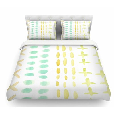 Dots and Dashes by Jennifer Rizzo Featherweight Duvet Cover Size: King