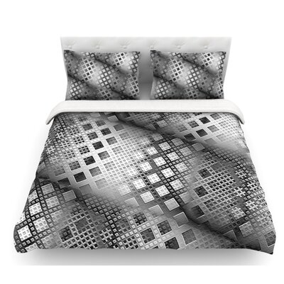 Array Decay by Michael Sussna Checkered Featherweight Duvet Cover Size: Queen, Fabric: Woven Polyester