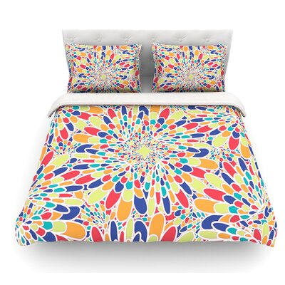 Flourishing by Miranda Mol Featherweight Duvet Cover Color: Multi, Size: Queen