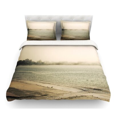 Stormy Coast by Jillian Audrey Coastal Featherweight Duvet Cover Size: Twin