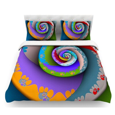 Flor Essence by Michael Sussna Spiral Featherweight Duvet Cover Size: Twin, Fabric: Lightweight Polyester